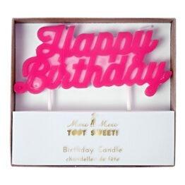 Bougie Happy Birthday Rose Meri Meri