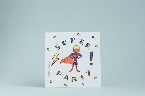 Invitation anniversaire super h ro little marmaille - Carte anniversaire super heros ...