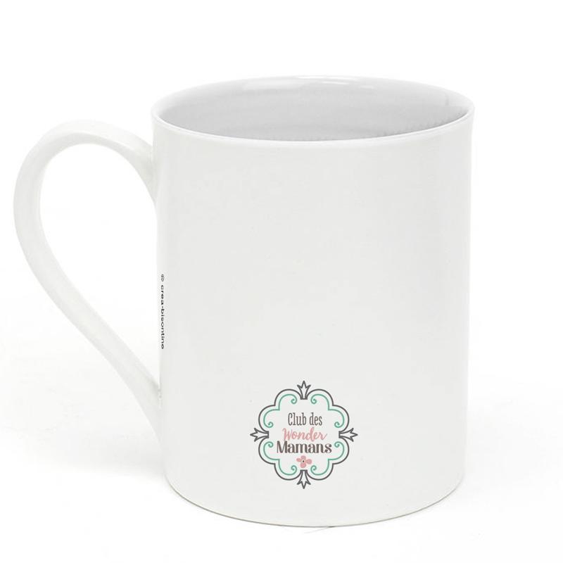 mug en porcelaine super maman little marmaille. Black Bedroom Furniture Sets. Home Design Ideas
