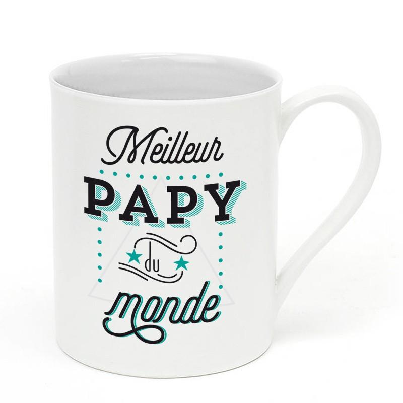 mug en porcelaine super papy little marmaille. Black Bedroom Furniture Sets. Home Design Ideas