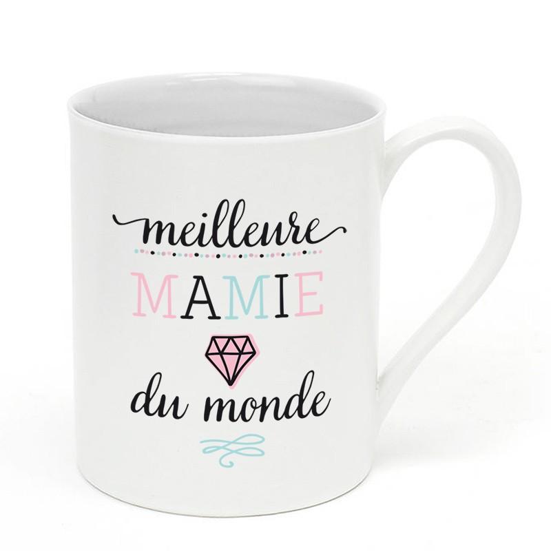 mug en porcelaine meilleure mamie du monde little marmaille. Black Bedroom Furniture Sets. Home Design Ideas