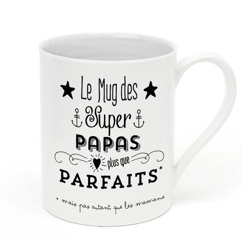 mug en porcelaine papa parfait little marmaille. Black Bedroom Furniture Sets. Home Design Ideas