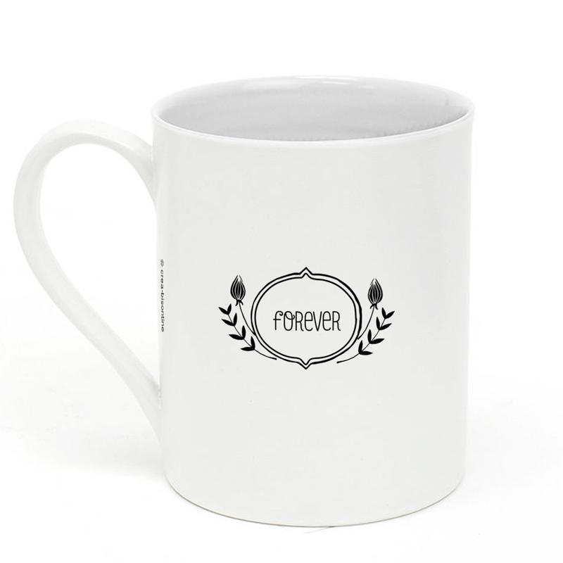 mug en porcelaine super marraine little marmaille. Black Bedroom Furniture Sets. Home Design Ideas