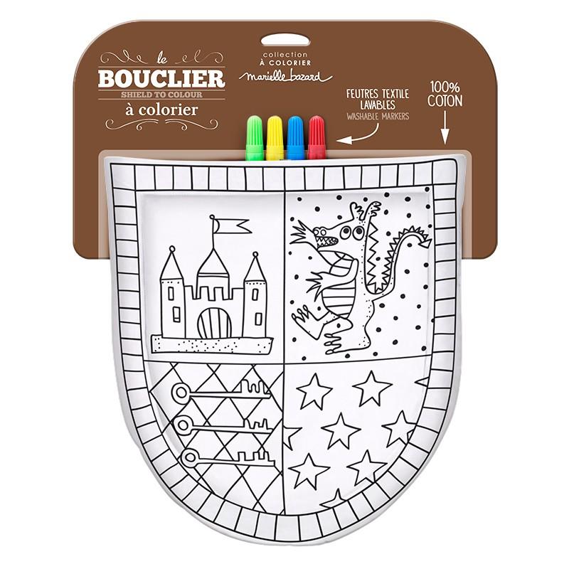 Coloriage Fanion Chevalier.Bouclier De Chevalier A Colorier 4 Feutres Lavables Little Marmaille