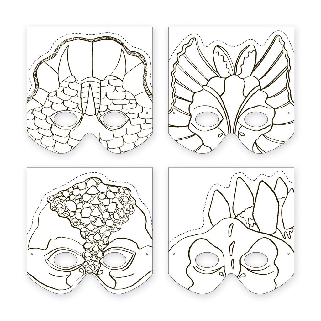 magasin meilleurs vendeurs styles de mode sélectionner pour plus récent Masques à Fabriquer - Dinosaures - Little marmaille