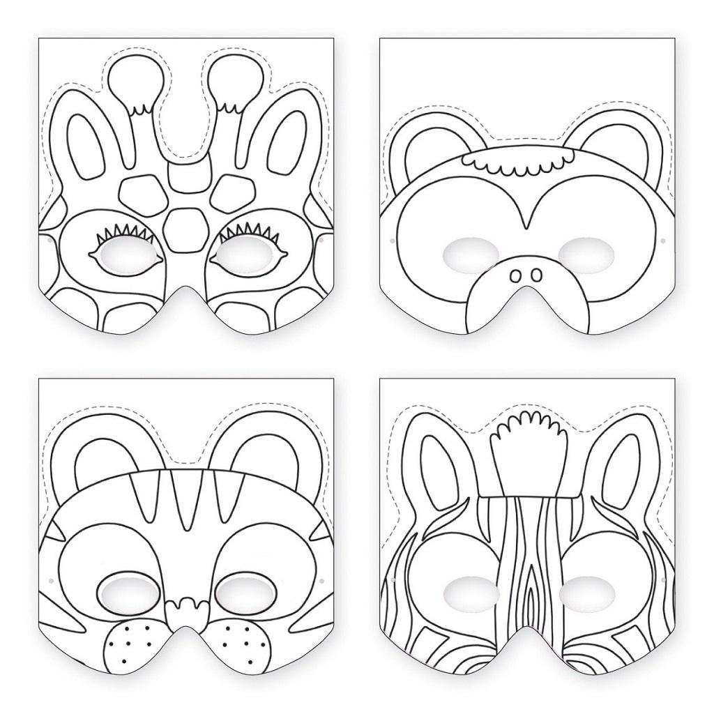 Masques à Fabriquer Animaux De La Jungle Little Marmaille