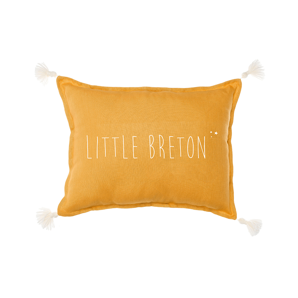 Marin le coussin little breton jaune moutarde little - Coussin jaune moutarde ...