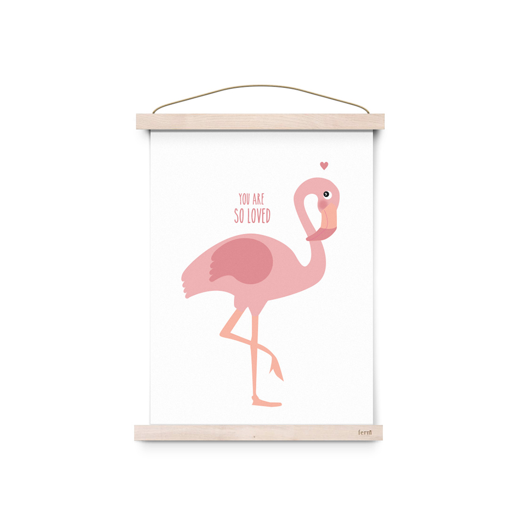 affiche a3 flamant rose you are so loved by eef lillemor little marmaille. Black Bedroom Furniture Sets. Home Design Ideas