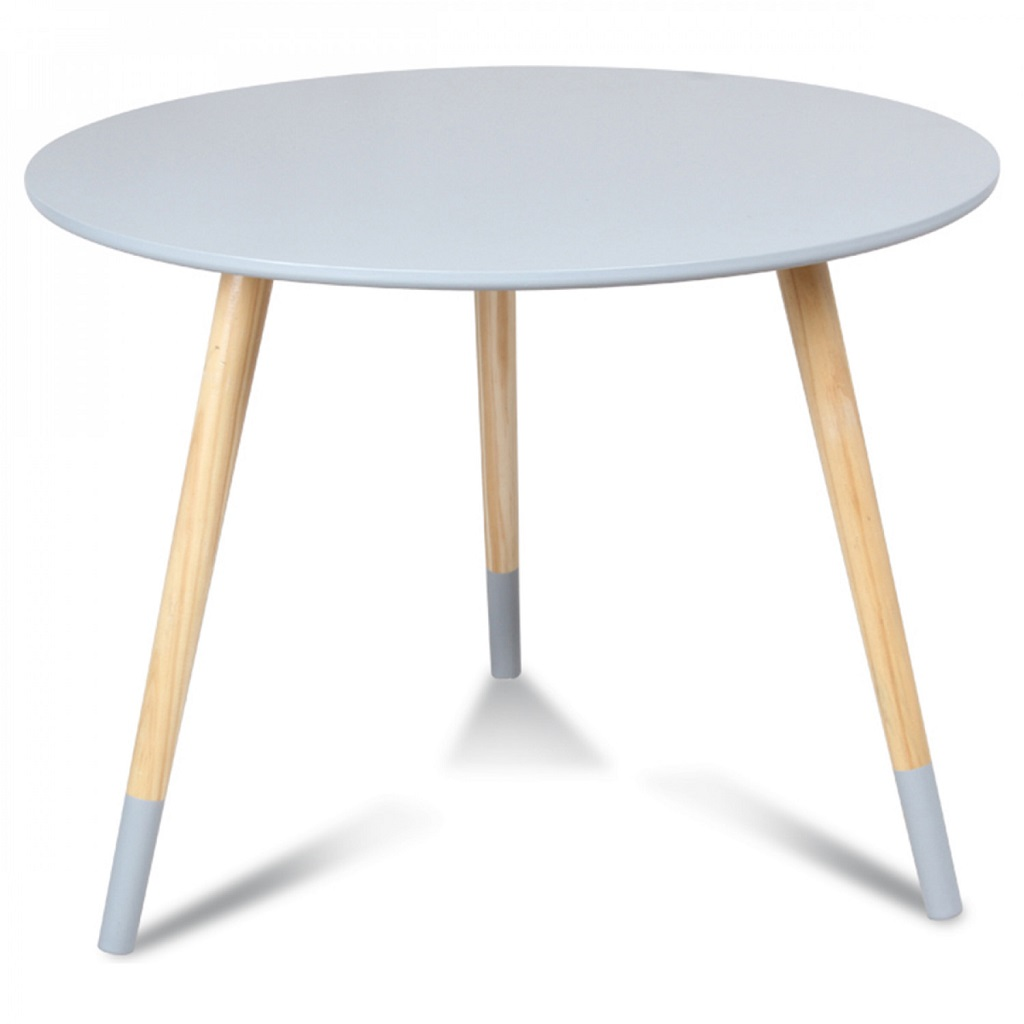 Table scandinave ronde enfant gris little marmaille - Table ronde grise ...