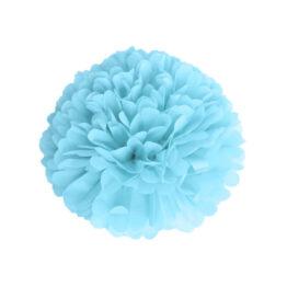 pompom-satin-bleu-dragee-15cm