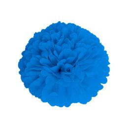 pompom-satin-bleu-saphir-40cm