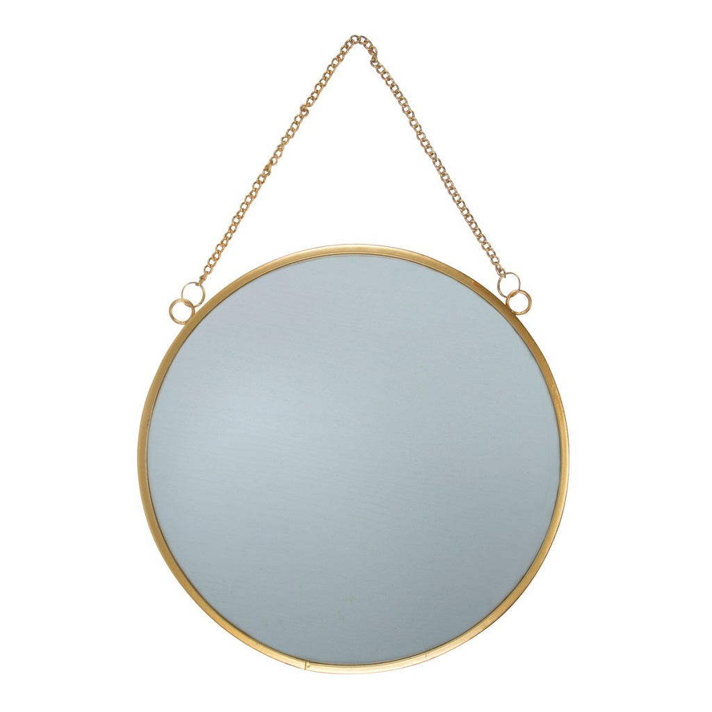 Miroir rond dor little marmaille for Miroir rond dore