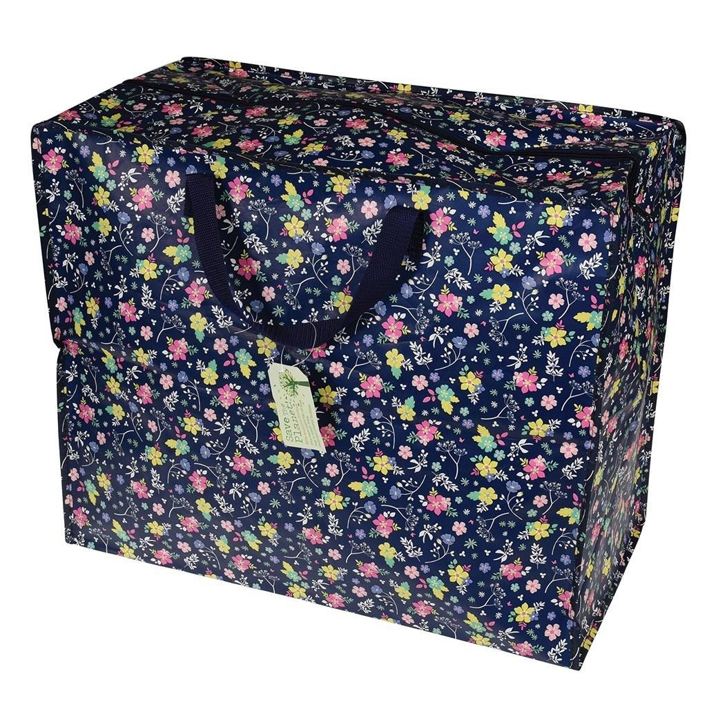 grand sac de rangement jardin fleuri little marmaille. Black Bedroom Furniture Sets. Home Design Ideas