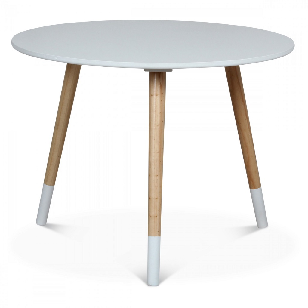 Table scandinave ronde enfant blanc little marmaille for Table ronde blanc