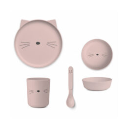liewood_set-de-vaisselle-bambou-chat-rose