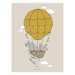 bloomingville_poster-animaux-montgolfiere-jaune-moutarde