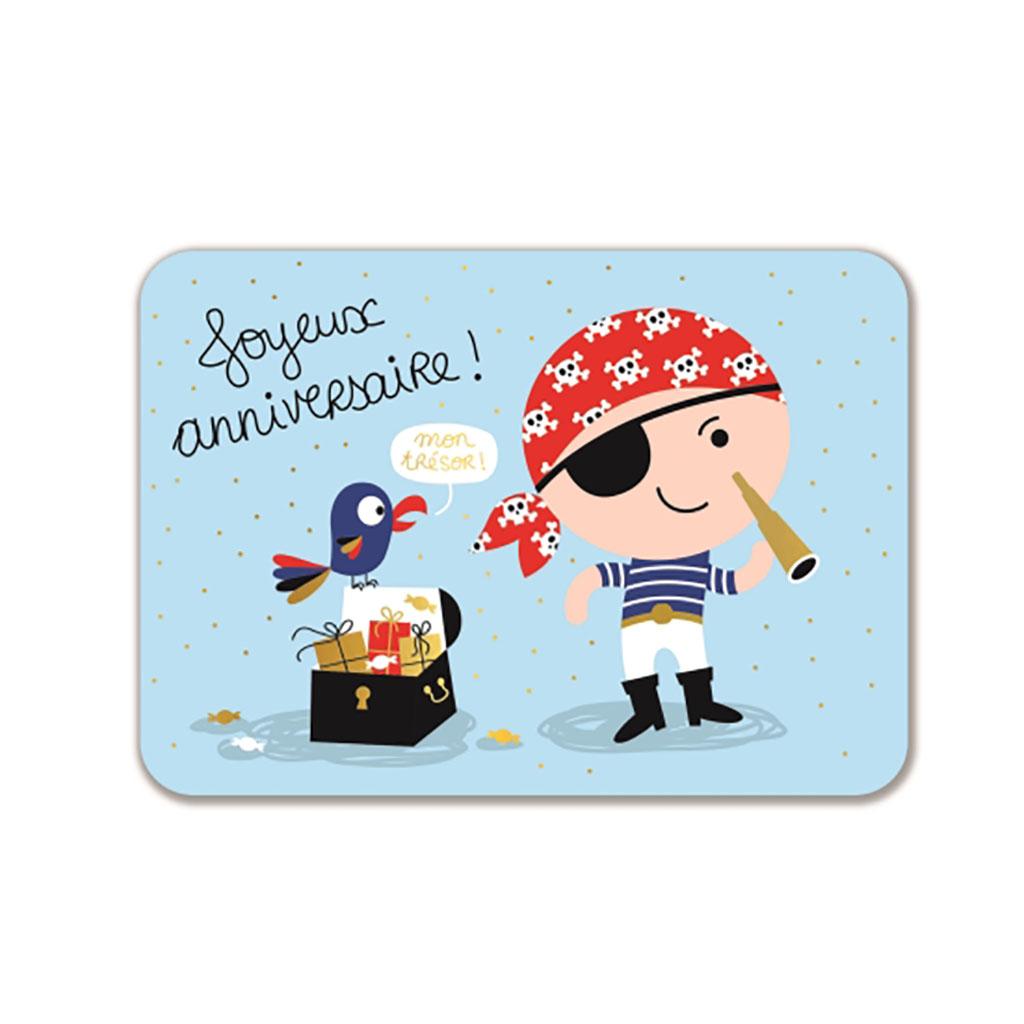 Carte Joyeux Anniversaire Pirate Little Marmaille