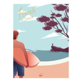 wim_affiche-surfeur-sur-la-french-coast