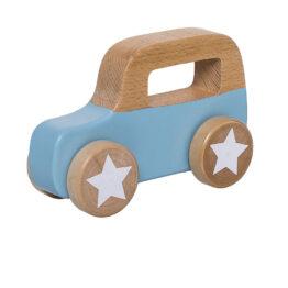 bloomingville-mini_voiture-bleue-en-bois- roues-etoilees
