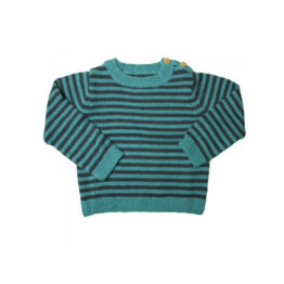 la-petite-collection_pull-raye-vert-marine