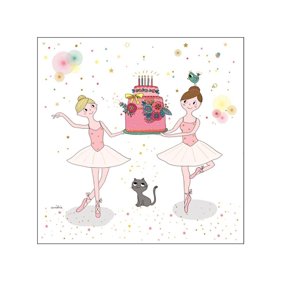 Carte Anniversaire Danseuses Little Marmaille