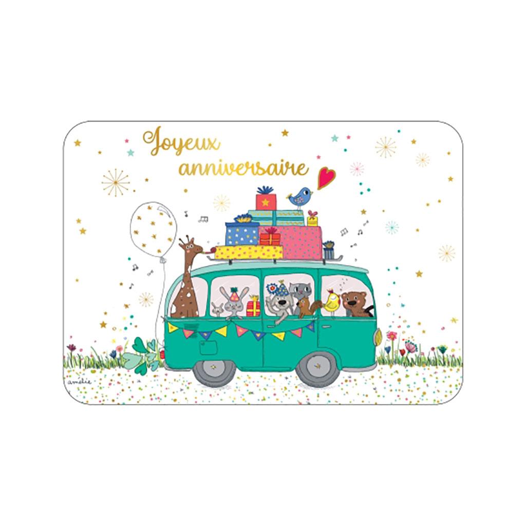 Carte Joyeux Anniversaire Joyeux Anniversaire Caravane D