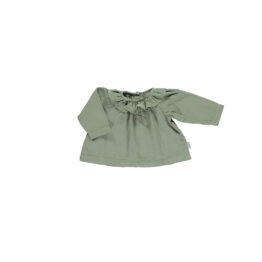 poudre-organic_blouse-col-volant-charme-oil-green