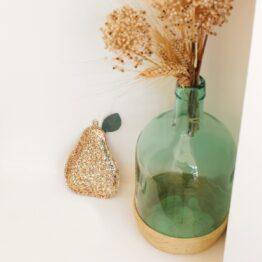 barnabe-aime-le-café_poire-decorative-pailleté-or