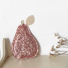 barnabe-aime-le-café_poire-decorative-pailleté-rose