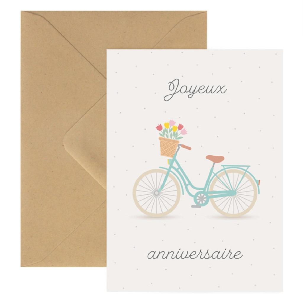 Carte Joyeux Anniversaire Velo Little Marmaille