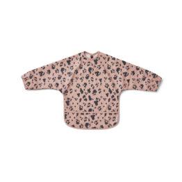liewood-bavoir-à-manche-leopard-rose