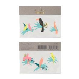 meri-meri_tatouage-oiseaux-tropicaux