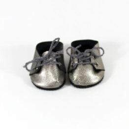 minikane-chaussure-a-lacets-argent