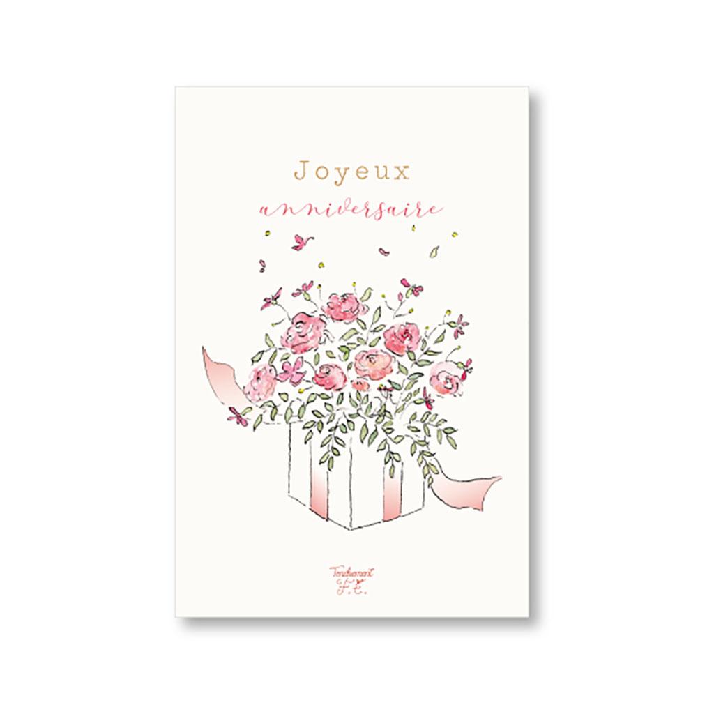 Carte Joyeux Anniversaire Bouquet De Fleurs Little Marmaille
