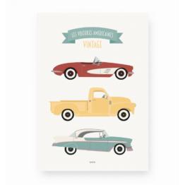lutin-petit-pois_affiche-les-voitures-americaines-vintage