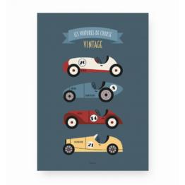 lutin-petit-pois_affiche-les-voitures-de-course-vintage
