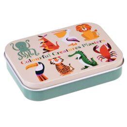 Boîte de 30 pansements animaux colorés