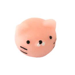 Mini squishy tête de chat rose