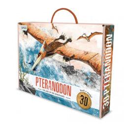 coffret livre et maquette 3d dinosaure le pteranodon