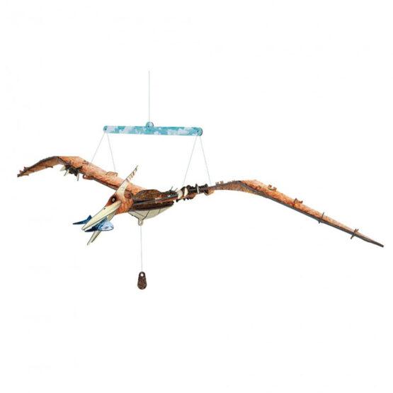 coffret livre et maquette 3d dinosaure le pteranodon - maquette montée