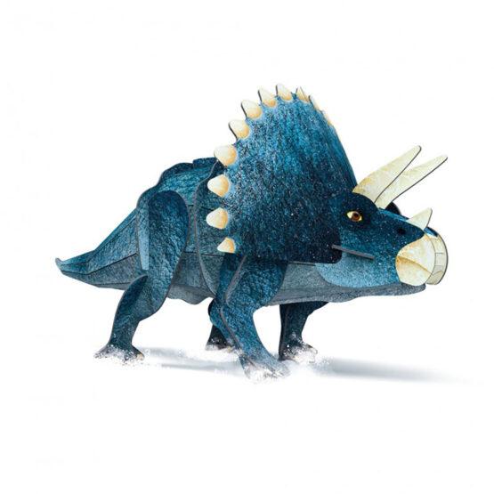 Livre et maquette 3d l'ère des dinosaures - Le tricératops maquette