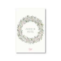 Carte Couronne Joyeux Noël Tendrement Fé