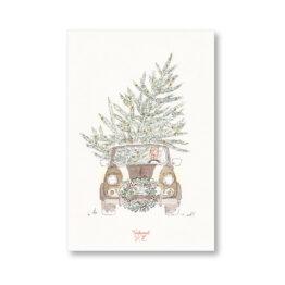 Carte Mini Austin de Noël Tendrement fé