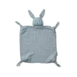 doudou plat lapin bleu clair liewood