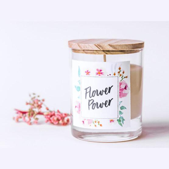 bougie DIY flower power la petite épicerie