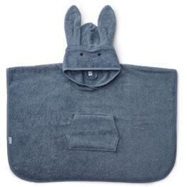 Poncho lapin bleu liewood