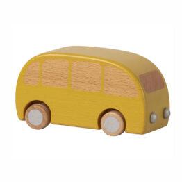 bus en bois jaune maileg