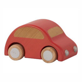 voiture en bois rouge maileg