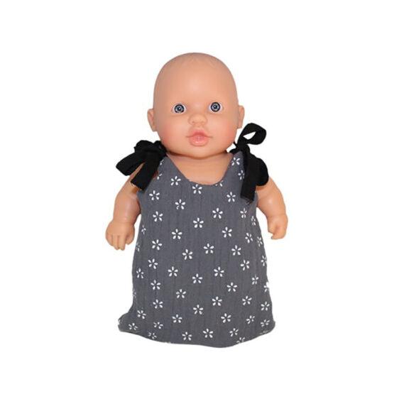 Turbulette pour poupée Peque gris fantaisie - Minikane