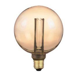 Ampoule LED globe Ambré